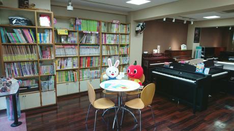 1階 楽譜・楽器・小物売り場
