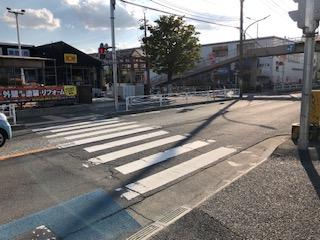 戸田翔陽高校前の交差点