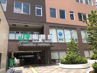 JR板橋駅を出てすぐ!