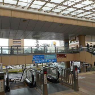JR市川駅南口へ