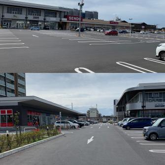 広々の駐車場