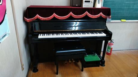 常設のピアノ