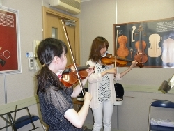 バイオリン レッスン風景